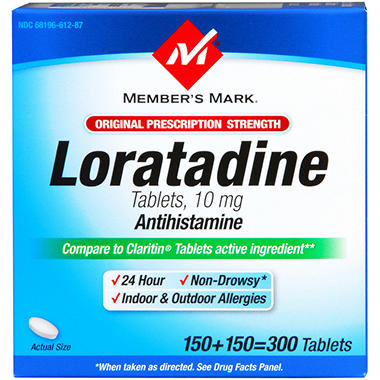 Member's Mark® Loratadine 10MG Tablets - 300ct