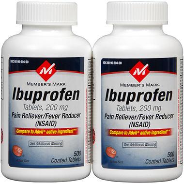 Member's Mark® Ibuprofen Tabs 200mg - 2/500ct