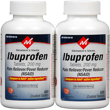 Member's Mark® Ibuprofen Tabs 200mg - 2/500ct