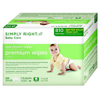 Simply Right Premium Wipes, 810 ct.