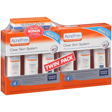 AcneFree™ Clear Skin System Twin Pack + Bonus