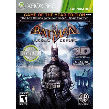 Batman Arkham Asylum Game of the Year Edition - Xbox 360