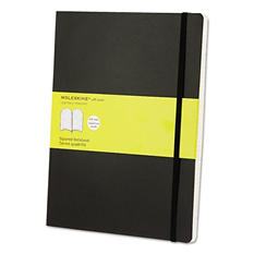 Moleskine - Classic Softcover Notebook, 7 1/2 x 10, Squared, Black Cover -  192 Sheets