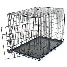 Majestic Pet Single Door Folding Dog Crate (Choose Your Size)