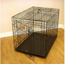 """Majestic Pet Single Door Folding Dog Crate, 48"""""""