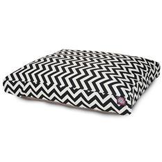 Majestic Pet Rectangle Pet Bed, Black Chevron (Choose Your Color and Size)