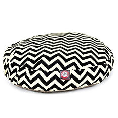Majestic Pet Round Pet Bed, Black Chevron (Choose Your Color and Size)
