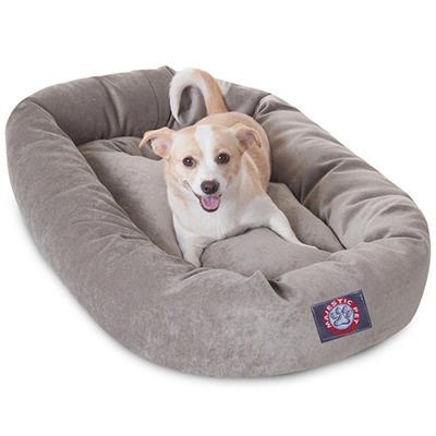 "Majestic Pet Velvet Bagel Pet Bed 32"" (Choose Your Color)"