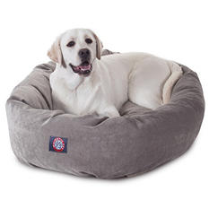 "Majestic Pet Velvet Bagel Pet Bed 40"" Choose Your Color)"