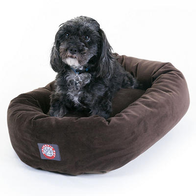 "Majestic Pet Suede Bagel Pet Bed, 24"" (Choose Your Color)"