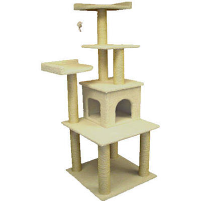 """Bungalow Cat Condo - 64""""H"""