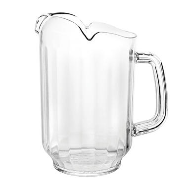 Excellanté Break Resistant Water Pitcher - Three Spouts - 64 oz.