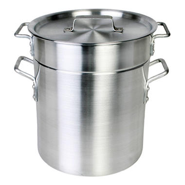 12 Qt. Aluminum Pasta Cooker - Mirror Finish