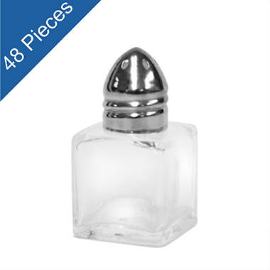 Cube Salt & Pepper Shakers - 0.5 oz. - 48 pk.