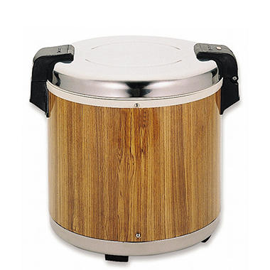 Stainless Steel 50 Cup Rice Warmer - Wood Grain