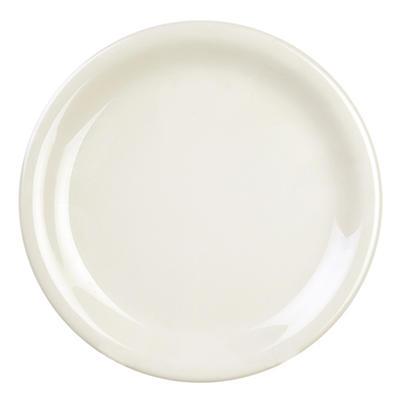 Melamine Narrow Rim Round Plate - Ivory - 12 pk. - Various Sizes