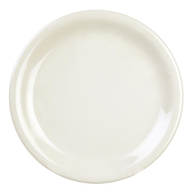 Melamine Narrow Rim Round Plate - Ivory - 12 pk. - Various Sizes