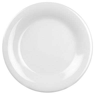 Melamine Wide Rim Round Plate - White - 12 pk. - 10.5