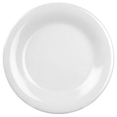 "Melamine Wide Rim Round Plate - White - 12 pk. - 10.5"""