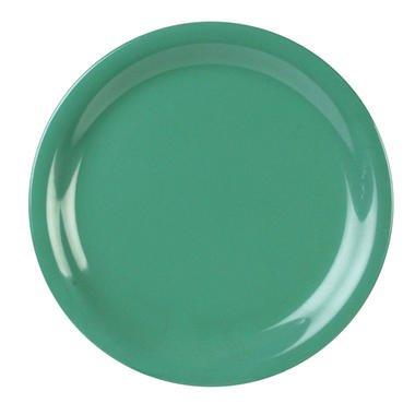 Melamine Narrow Rim Round Plate - Green - 12 pk. - Various Sizes