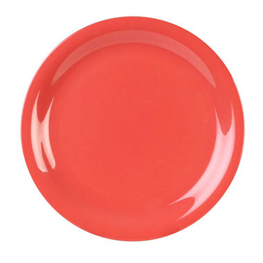 Melamine Narrow Rim Round Plate - Orange Red - 12 pk. - Various Sizes