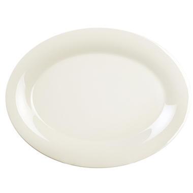 Excellante Melamine Oval Platter - Ivory - 12 pk. (Choose size)