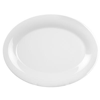 """Melamine Oval Platter - White - 12 pk. - 9""""x12"""