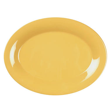 Melamine Oval Platter - Yellow -12