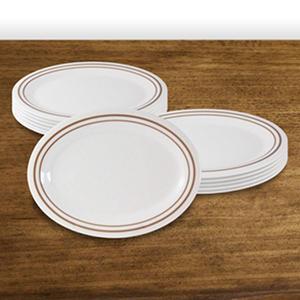 """Winston Melamine Oval Platter - 9"""" - 12 pk."""