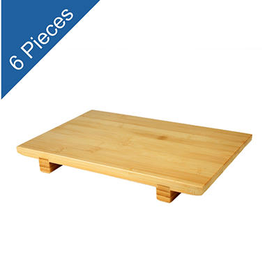 Bamboo Sushi Plate - Large - 6 pk.