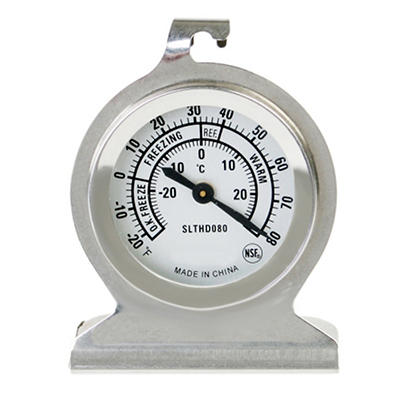 Stainless Steel Fridge / Freezer Thermometer - 20° to 80°F