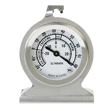 Stainless Steel Fridge / Freezer Thermometer - 20� to 80�F