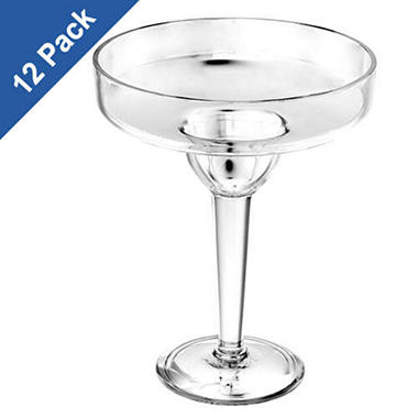 Clear Acrylic Margarita Glasses - 19 oz. - 12 pk.