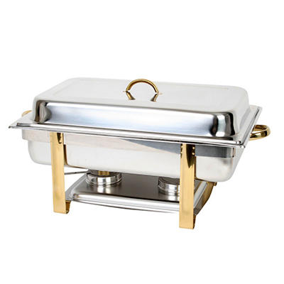 Stainless Steel Rectangular Oblong Chafer - 8 qt.