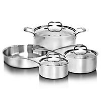 Stainless Steel Tri-Ply Cookware Set (7pc.)