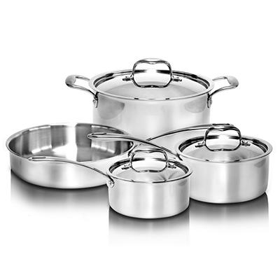 Stainless Steel Tri-Ply Cookware Set - 7 pc.