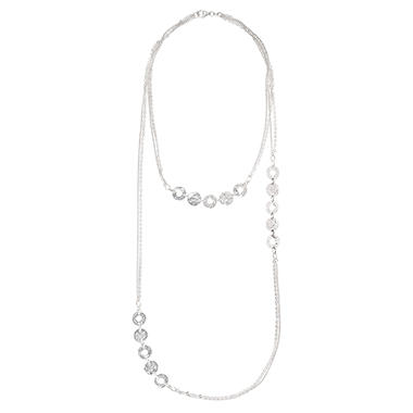Layered Long Link Necklace in Sterling Silver - 31