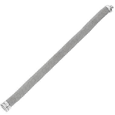 Popcorn Mesh Bracelet in Sterling Silver - 7.5