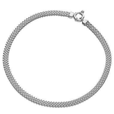 Woven Link Necklace in Sterling Silver - 18""