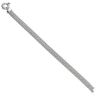 Woven Link Bracelet in Sterling Silver - 7.5