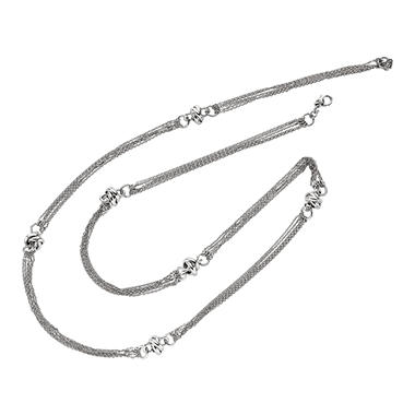 Diamond Cut Cable Link Necklace in Sterling Silver - 32""