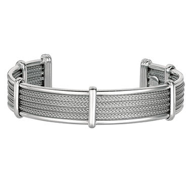 Cuff Bangle Bracelet in Sterling Silver