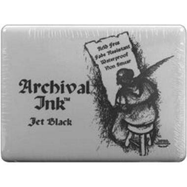 "Archival Dye Inkpad #3 Jumbo - 5""X6-1/2"" Jet Black"