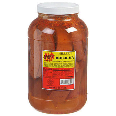 Miller's Hot Bologna - 56 oz. jar