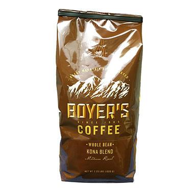 Boyer's Coffee Kona Blend - Whole Bean -  2.5 lbs.