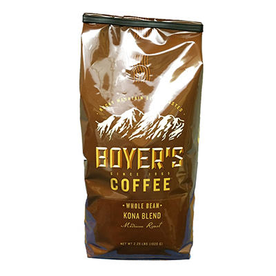 Boyer's Coffee Kona Blend, Whole Bean (2.25 lbs.)