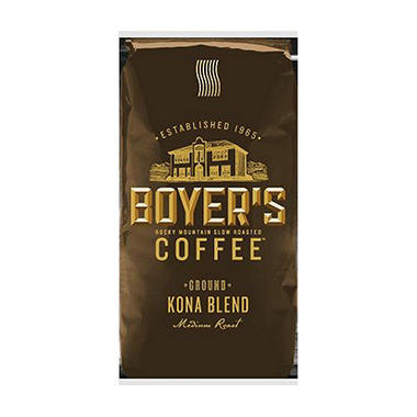 Boyer's Coffee Kona Blend - Ground - 2.5 lbs.