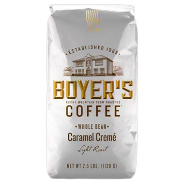 Boyer's Coffee Caramel Crème - Whole Bean