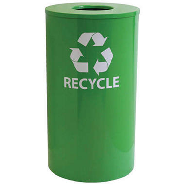Heavy Duty Recycling Receptacle - Green - 33 gal.