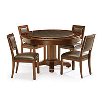Brunswick Heritage Set Game Table & Chairs - Chestnut